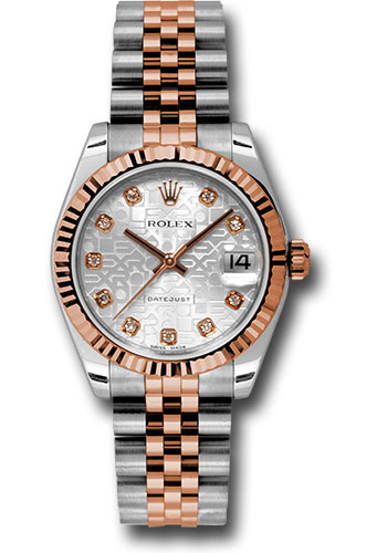 Rolex Watches - Datejust 31mm - Steel and Gold Pink Gold - Fluted Bezel - Jubilee - Style No: 178271 sjdj