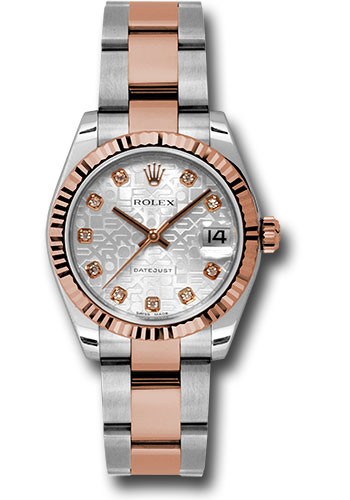 Rolex Watches - Datejust 31mm - Steel and Gold Pink Gold - Fluted Bezel - Oyster - Style No: 178271 sjdo