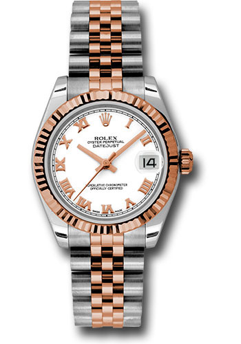 Rolex Watches - Datejust 31mm - Steel and Gold Pink Gold - Fluted Bezel - Jubilee - Style No: 178271 wrj