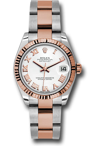 Rolex Watches - Datejust 31mm - Steel and Gold Pink Gold - Fluted Bezel - Oyster - Style No: 178271 wro