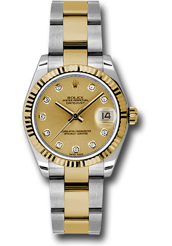 Rolex Watches - Datejust 31mm - Steel and Gold Yellow Gold - Fluted Bezel - Oyster - Style No: 178273 chdo