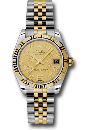Rolex Watches - Datejust 31mm - Steel and Gold Yellow Gold - Fluted Bezel - Jubilee - Style No: 178273 chfj