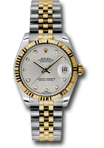 Rolex Watches - Datejust 31mm - Steel and Gold Yellow Gold - Fluted Bezel - Jubilee - Style No: 178273 sdj