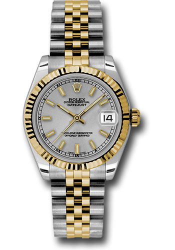 Rolex Watches - Datejust 31 Steel and Yellow Gold - Fluted Bezel - Jubilee - Style No: 178273 sij