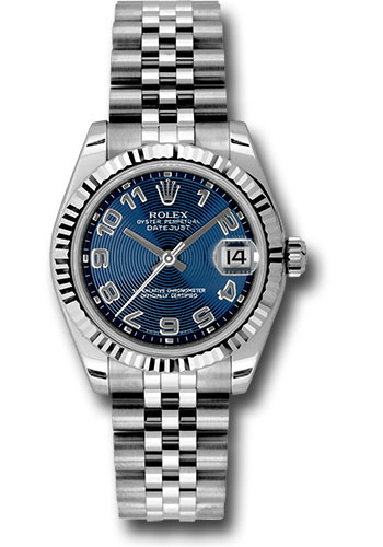 Rolex Watches - Datejust 31mm - Steel Fluted Bezel - Jubilee Bracelet - Style No: 178274 blcaj