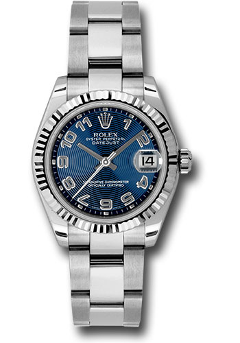 Rolex Watches - Datejust 31mm - Steel Fluted Bezel - Oyster Bracelet - Style No: 178274 blcao