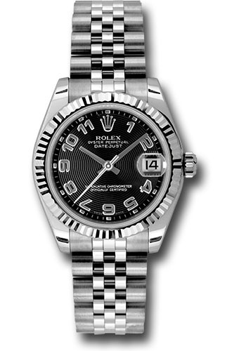 Rolex Watches - Datejust 31mm - Steel Fluted Bezel - Jubilee Bracelet - Style No: 178274 bkcaj
