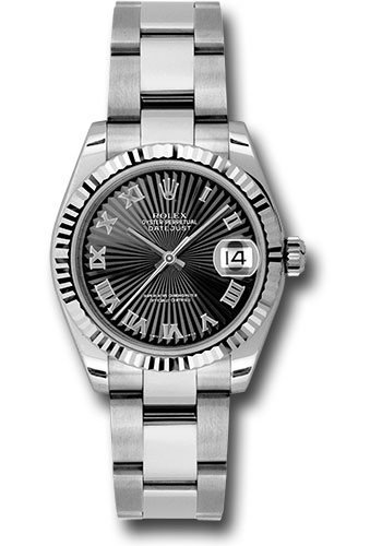 Rolex Watches - Datejust 31mm - Steel Fluted Bezel - Oyster Bracelet - Style No: 178274 bksbro