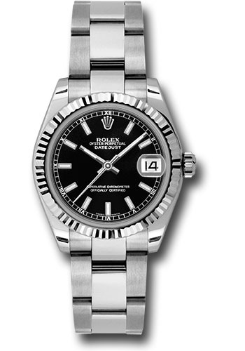 Rolex Watches - Datejust 31mm - Steel Fluted Bezel - Oyster Bracelet - Style No: 178274 bkso