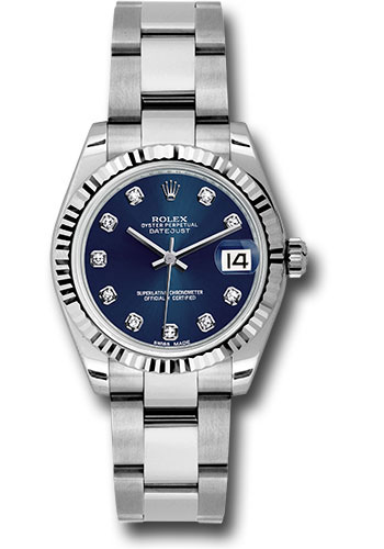 Rolex Watches - Datejust 31mm - Steel Fluted Bezel - Oyster Bracelet - Style No: 178274 bldo