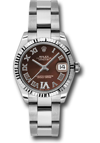 Rolex Watches - Datejust 31mm - Steel Fluted Bezel - Oyster Bracelet - Style No: 178274 brdro