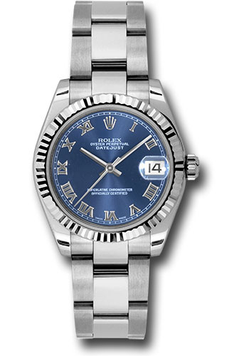 Rolex Watches - Datejust 31mm - Steel Fluted Bezel - Oyster Bracelet - Style No: 178274 blro