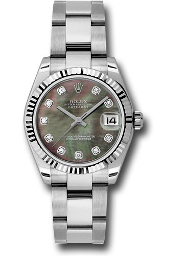 Rolex Watches - Datejust 31mm - Steel Fluted Bezel - Oyster Bracelet - Style No: 178274 dkmdo