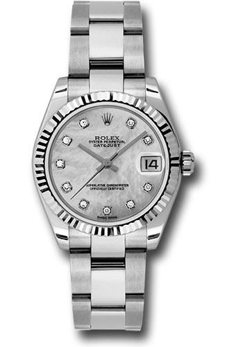 Rolex Watches - Datejust 31mm - Steel Fluted Bezel - Oyster Bracelet - Style No: 178274 mdo