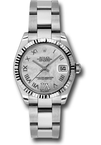 Rolex Watches - Datejust 31mm - Steel Fluted Bezel - Oyster Bracelet - Style No: 178274 mdro