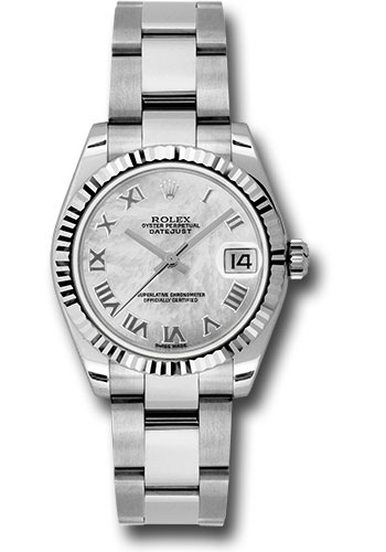Rolex Watches - Datejust 31mm - Steel Fluted Bezel - Oyster Bracelet - Style No: 178274 mro