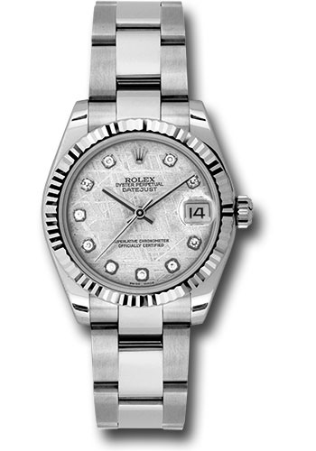 Rolex Watches - Datejust 31mm - Steel Fluted Bezel - Oyster Bracelet - Style No: 178274 mtdo