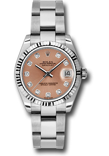 Rolex Watches - Datejust 31mm - Steel Fluted Bezel - Oyster Bracelet - Style No: 178274 pdo
