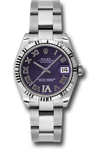 Rolex Watches - Datejust 31mm - Steel Fluted Bezel - Oyster Bracelet - Style No: 178274 pdro