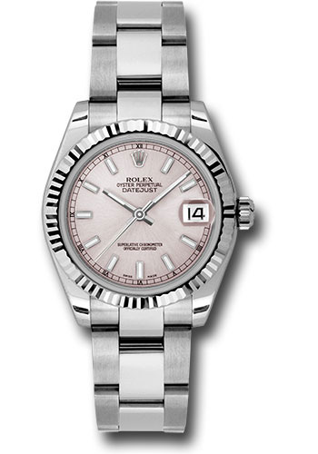 Rolex Watches - Datejust 31mm - Steel Fluted Bezel - Oyster Bracelet - Style No: 178274 pso