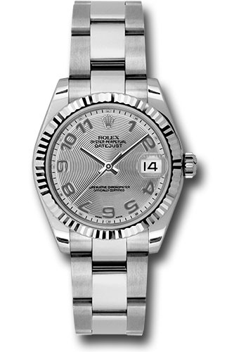 Rolex Watches - Datejust 31mm - Steel Fluted Bezel - Oyster Bracelet - Style No: 178274 scao