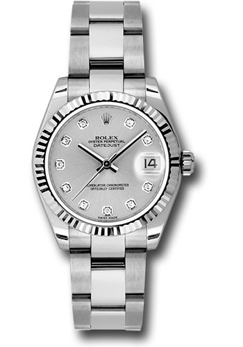 Rolex Watches - Datejust 31mm - Steel Fluted Bezel - Oyster Bracelet - Style No: 178274 sdo
