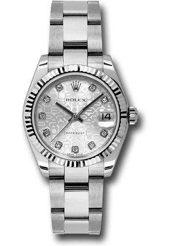 Rolex Watches - Datejust 31mm - Steel Fluted Bezel - Oyster Bracelet - Style No: 178274 sjdo