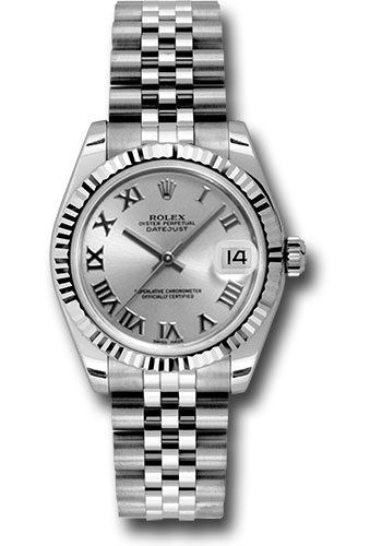 Rolex Watches - Datejust 31mm - Steel Fluted Bezel - Jubilee Bracelet - Style No: 178274 srj
