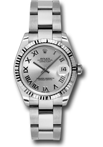 Rolex Watches - Datejust 31mm - Steel Fluted Bezel - Oyster Bracelet - Style No: 178274 sro