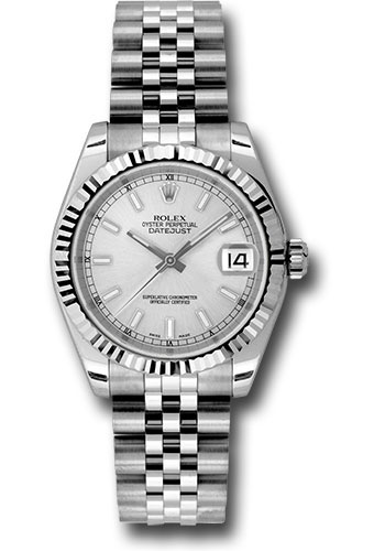 Rolex Watches - Datejust 31mm - Steel Fluted Bezel - Jubilee Bracelet - Style No: 178274 ssj