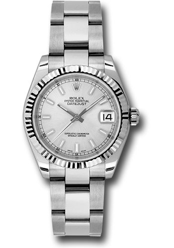 Rolex Watches - Datejust 31mm - Steel Fluted Bezel - Oyster Bracelet - Style No: 178274 sso