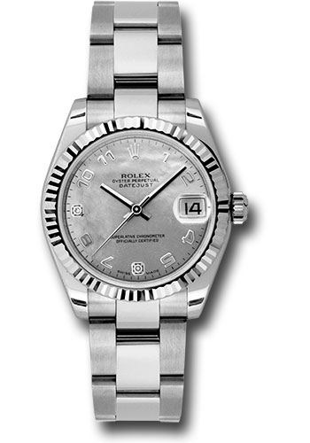 Rolex Watches - Datejust 31mm - Steel Fluted Bezel - Oyster Bracelet - Style No: 178274 wgdmdao