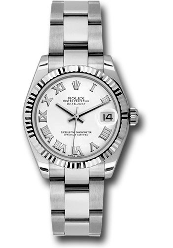 Rolex Watches - Datejust 31mm - Steel Fluted Bezel - Oyster Bracelet - Style No: 178274 wro