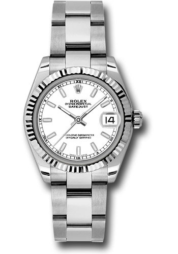 Rolex Watches - Datejust 31mm - Steel Fluted Bezel - Oyster Bracelet - Style No: 178274 wso