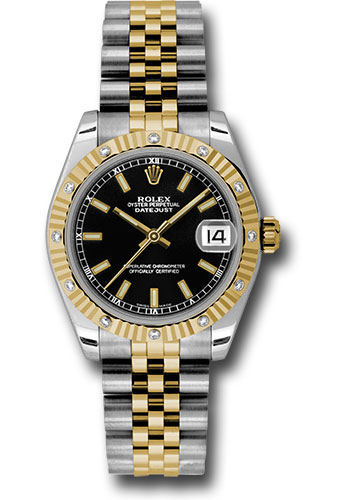 Rolex Watches - Datejust 31mm - Steel and Gold Yellow Gold - 12 Dia Bezel - Jubilee - Style No: 178313 bkij