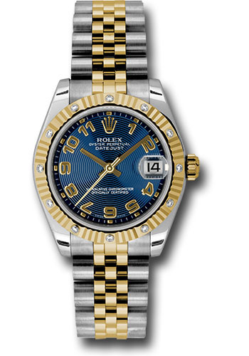 Rolex Watches - Datejust 31mm - Steel and Gold Yellow Gold - 12 Dia Bezel - Jubilee - Style No: 178313 blcaj