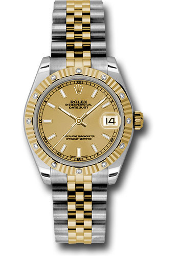 Rolex Watches - Datejust 31mm - Steel and Gold Yellow Gold - 12 Dia Bezel - Jubilee - Style No: 178313 chij