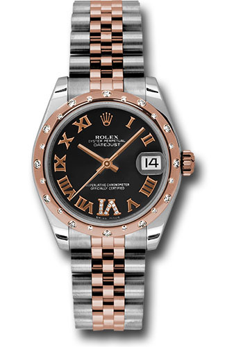 Rolex Watches - Datejust 31mm - Steel and Gold Pink Gold - 24 Dia Bezel - Jubilee - Style No: 178341 bkdrj