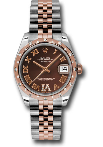 Rolex Watches - Datejust 31mm - Steel and Gold Pink Gold - 24 Dia Bezel - Jubilee - Style No: 178341 chodrj