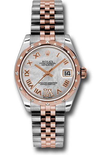 Rolex Watches - Datejust 31mm - Steel and Gold Pink Gold - 24 Dia Bezel - Jubilee - Style No: 178341 mdrj