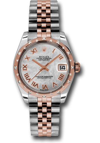 Rolex Watches - Datejust 31mm - Steel and Gold Pink Gold - 24 Dia Bezel - Jubilee - Style No: 178341 mrj