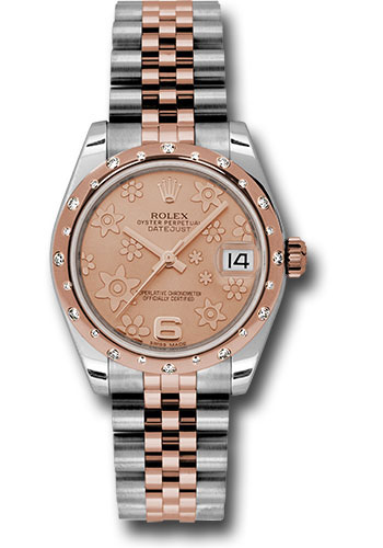 Rolex Watches - Datejust 31mm - Steel and Gold Pink Gold - 24 Dia Bezel - Jubilee - Style No: 178341 pchfj