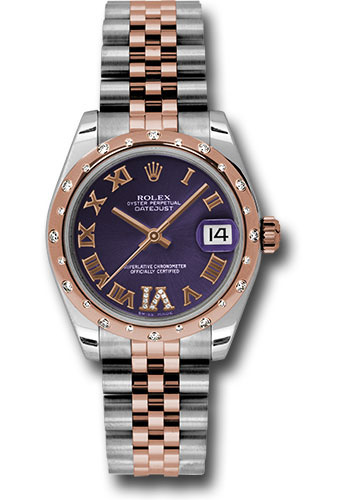 Rolex Watches - Datejust 31mm - Steel and Gold Pink Gold - 24 Dia Bezel - Jubilee - Style No: 178341 pdrj