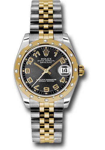 Rolex Watches - Datejust 31 Steel and Yellow Gold - 24 Dia Bezel - Jubilee - Style No: 178343 bkcaj