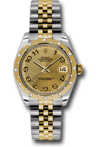 Rolex Watches - Datejust 31mm - Steel and Gold Yellow Gold - 24 Dia Bezel - Jubilee - Style No: 178343 chcaj