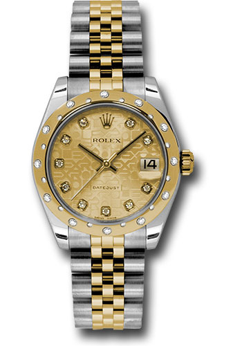 Rolex Watches - Datejust 31 Steel and Yellow Gold - 24 Dia Bezel - Jubilee - Style No: 178343 chjdj