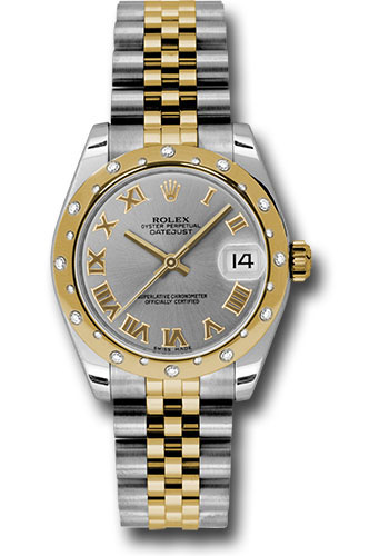 Rolex Watches - Datejust 31mm - Steel and Gold Yellow Gold - 24 Dia Bezel - Jubilee - Style No: 178343 grj