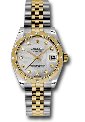 Rolex Watches - Datejust 31mm - Steel and Gold Yellow Gold - 24 Dia Bezel - Jubilee - Style No: 178343 mdj