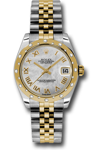 Rolex Watches - Datejust 31 Steel and Yellow Gold - 24 Dia Bezel - Jubilee - Style No: 178343 mrj