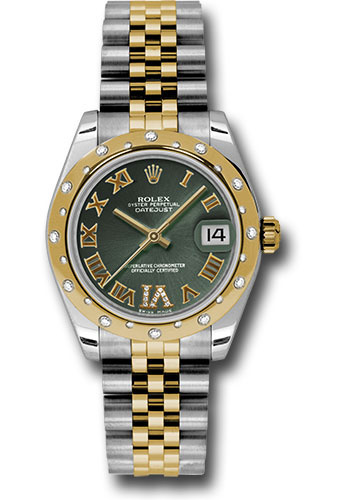 Rolex Watches - Datejust 31 Steel and Yellow Gold - 24 Dia Bezel - Jubilee - Style No: 178343 ogdrj